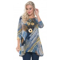 """"""" New""""Lior Abstract Pattern Tunic"""