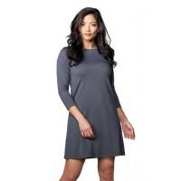 3/4 Sleeve Boatneck Dress