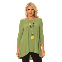Alisha D Jewel Neck Tunic