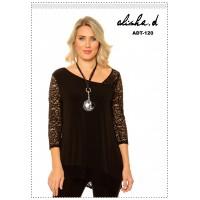 Alisha D Lace Sleeve Tunic Top