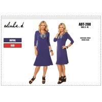 Alisha D 3/4 Sleeve  Dress