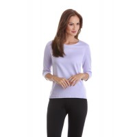 A Nue Ligne Elbow Length  Sleeve Crew Neck